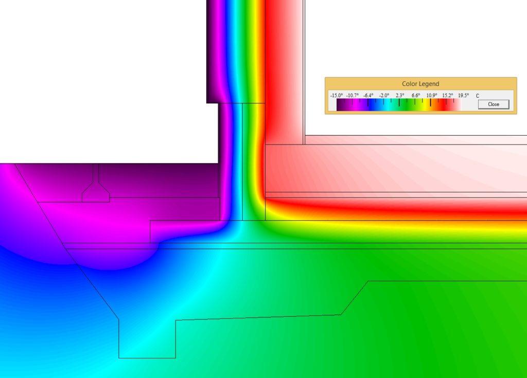 Obvodová stěna u základu, základová deska na XPS